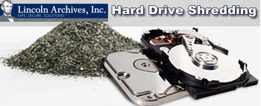 To ensure proper disposal of information, hard-drives should be shredded after their intended use.