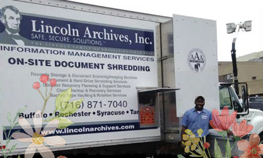 Shredding Events in Buffalo NY provided by Lincoln Archives